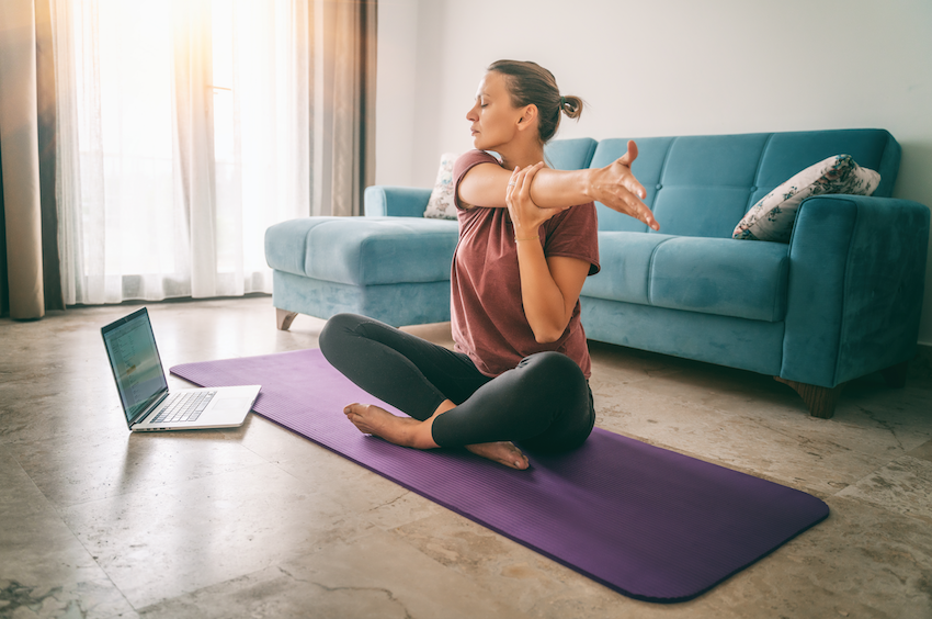 stress relieving exercises: gentle yoga at home